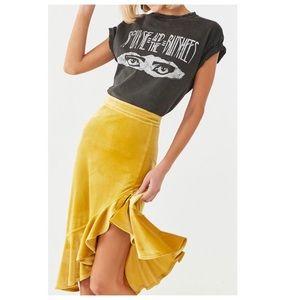 Velvet High Low Skirt